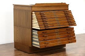 sold  stacking oak  drawer vintage map or artist document file