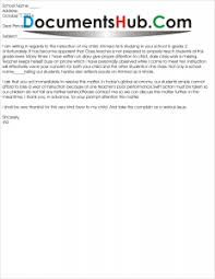 Complaint Letter To Principal From Parents About Teacher