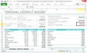 Sample Personal Budget Templates Monthly Budget Template Free Download Bud Worksheet Sample Home