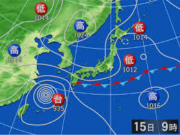 過去の天気図 2017年09月15日09時 - goo天気