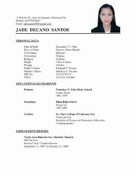 Simple Resume Examples For Filipino Unique Photography Resume