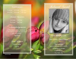microsoft office funeral program template this sample funeral program template from the floral collection is