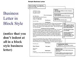 Business Letter in Block Style