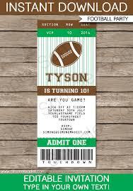 Free Football Invitation Templates Football Ticket Invitation Template