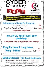 cyber monday specials for yang s fitness center here
