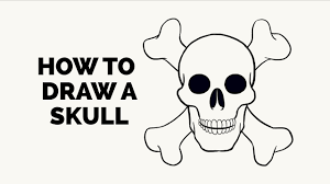 Small Picture How to Draw a Skull Easy Step by Step Drawing Tutorial YouTube