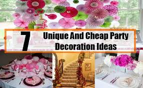 Decoration  7 Unique And Cheap Party Decoration Ideas