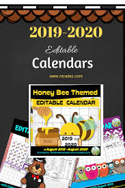 Editable 2015 2020 Calendar A Teachers Idea Editable Calendars For Teachers