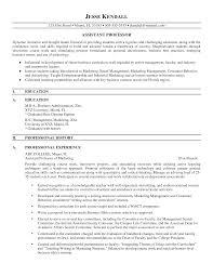 Assistant Professor Resume Format Resume For Study