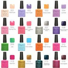 gelish nail polish color chart