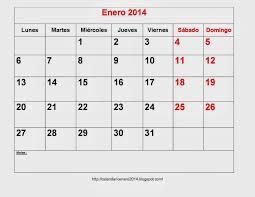 Calendarios Para Imprimir 2015 Calendario Enero 2014 Para Imprimir