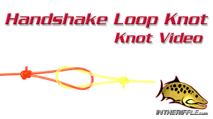 leader to fly line handshake loop knot connection video directions