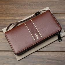 baellerry men s soft pu leather multi function zipper long clutch bag large capacity wallet jeansfellow