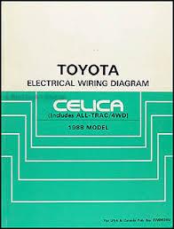 1988 toyota celica wiring diagram manual original