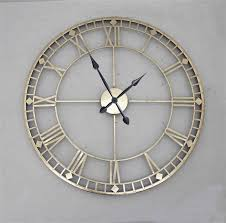 >metal wall art clocks elitflat antique style gold metal wall clock