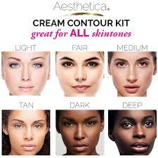 amazon aesthetica cosmetics cream contour and highlighting makeup kit contouring foundation concealer palette vegan free hypoallergenic