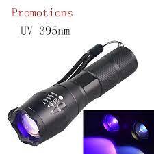Ultrafire led el feneri zumlanabilir menekşe uv el feneri zar lamba  elektrik floresan taklit lamba UV lamba yuvası LUZ Nichi|LED Flashlights