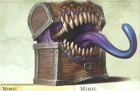 5th edition d d character sheet monster spotlight the mimic bell of lost souls
