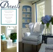 blue and white living room cote style home decor w chairs and painted hutch find this pin and more on blue upholstery fabric