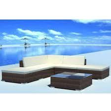 vidaXL 42085 <b>6 Piece Garden Lounge</b> Set with Cushions - Brown ...