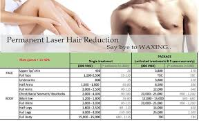 permanent laser hair removal list