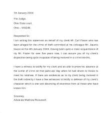 Character Letter Judge Template For Court Family Member