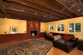 Unfinished Basement Design Amazing Finished Basement Ceiling Ideas Rbrownsonlaw