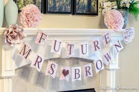 bride to be bridal shower or wedding shower decor paper banner with future