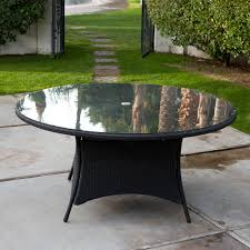 wicker and glass patio table