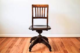 antique wooden office swivel desk chair