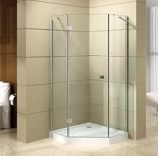 china customized bathroom frameless easy self cleaning 6mm 8mm 10mm tempered glass diamond shaped shower enclosure suppliers and factory