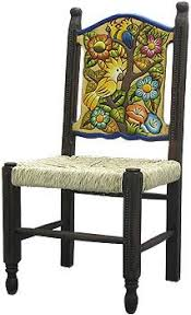 Furniture in mexico Puerto Vallarta 29900this Hand Made Birds amp Flowers Chair Was Created By The Perla Furniture Decoist 63 Best Mexican Painted Furniture Images Mexican Furniture