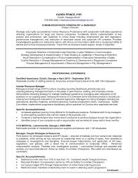 Human Resource Resume Template 2018 Human Resource Documents