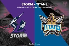 Roosters aami park (nine / fox) 7:55pm 7:55pm saturday, apr 17 stadium (network) est local sea eagles vs. Melbourne Storm Vs Gold Coast Titans Nrl Betting Tips R13 2021
