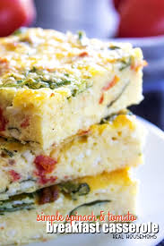 Simple Spinach Tomato Breakfast Casserole Real Housemoms