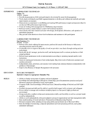 Laboratory Technician Resume Sample Laboratory Technician Resume Samples Velvet Jobs 5