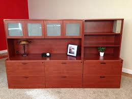 affordable office storage credenza with 2 drawer lateral open hutch baystate office furniture lawrence ma