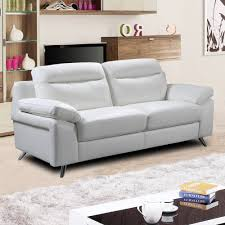 italian inspired modern white leather sofa collection