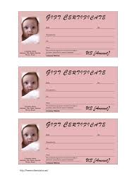 baby gift certificates gifts 11 best photos of gift card printable template heart