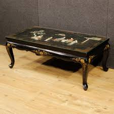 french coffee table of the 20th century furniture in lacquered and painted wood with chinoiserie embellishments of nice decor coffee table with protective