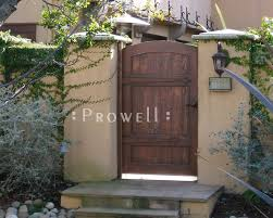 arched privacy wood garden gate in marin county ca