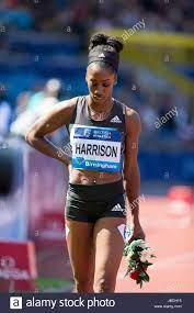Kendra HARRISON competing in the Women ...