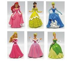 6 Pc Disney Princess Cake Topper Cinderella Belle Aurora Ariel Tiana