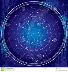 Night Sky Id Charts Celestial Map Of The Night Sky Blueprint Stock Vector