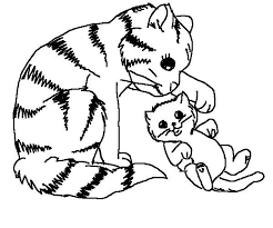 Small Picture Color Dogs And Cats Cute Cat And Dog Coloring Pages Printable Cat