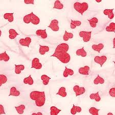Red Heart Patterns Beauteous Red Heart On Pink Printed Milled Mulberry Paper Saa Paper
