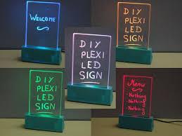 Diy Light Sign Board Plexiglas Led Sign By Mrfox Led Signs Led Writing Board
