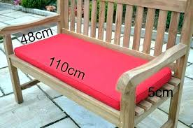 involved red painted garden bench