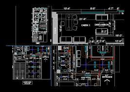 Design Cad 2d Download Interior Design Offices In Autocad Download Cad Free