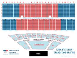Grandstand Iowa State Fair Seating Chart Iowa State Fair Grandstand Seating